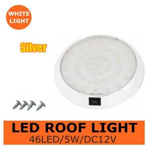 12V 46 LED Car Interior Lights Camper Van Boat Caravan Roof Doom Light White UK