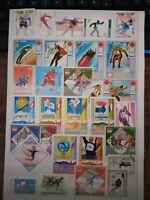 Winter Sport Olympische Spiele Briefmarken Stamps Sellos Timbres