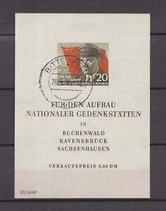 """DDR 1956 """"Ernst Thälmann"""", Block 14 mit Tagesstempel Bitterfeld 28.5.56 !!"""
