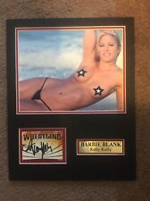 WWE Barbie Blank Kelly Kelly 11x14 Matted Nameplate Nude PHOTO AUTOGRAPH