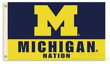Michigan Wolverines Nation 3x5 Flag w/grommets Outdoor Banner University of