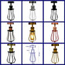 Retro Ceiling Color Light Shade Metal Pendant Lampshade Industrial Wire Cage Kit