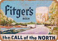 "Fitger's Beer Rustic Retro Metal Sign 7"" x 10"""
