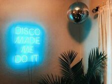 "Disc Made Me Do It Neon Sign Light Acrylic 20""x12"" Bedroom Bar With Dimmer"