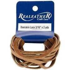 "Deerskin Lace .1875""X2yd Packaged Saddle Tan 870192003130"