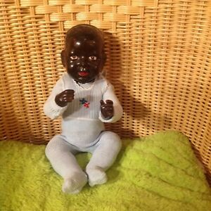 🌟Antike farbige Puppe FRANCE Prägung🌟 Vintage🌟 34 cm