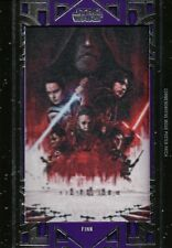 Star Wars Galactic Files, 'Finn' Purple Movie Poster Patch Card MA-FJ