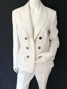 Marc Cain Collection Off White Trouser Suit Size 14