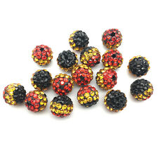 5Pcs Cheetah Leopard Crystal Micro Pave Disco Bracelet Spacer Shamballa Beads
