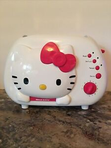 Hello Kitty 2-Slice Wide Slot Toaster w/ Cool Touch Exterior Bagel Model KT5211