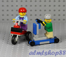 LEGO - Boy & Girl Minifigures on Scooter & Tricycle Male Female Kids City Town