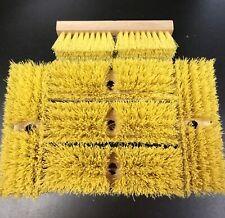 herramientas de mano con cerdas de nailon r/ígidas 3 cepillos de pl/ástico para limpieza de suelos productos de limpieza ergon/ómicos y resistentes para uso removedor de cal y lechada