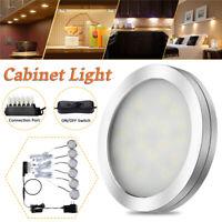 6Pcs DC12V Under Cabinet Light Kit LED Light Puck Bulb Kitchen Closet Shelf  3 3