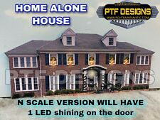 N Scale - Home Alone House - Building Flat w/ Led Christmas Decoration