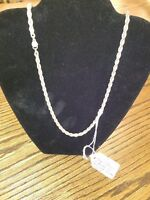 Tiffany& Co. rope necklace sterling silver and 18kt gold