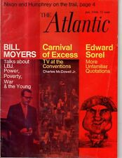 1968 Atlantic - July - the Political conventions; Irish-Americans; Greece;Kellor
