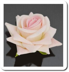 Spilla Molletta per Capelli Rosa Velours Fiore Capelli Bustino Nozze Matrimonio