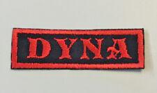 """Custom  Biker Vest Patch DYNA 2.5"""" X 1"""" (RED ON BLACK)"""
