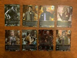 RESIDENT EVIL DECK BUILDING GAME 8 PROMO CARDS ~ PR & CH CHARACTERS WESKER