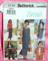Uncut Butterick Misses 20-24 Easy Jacket Top Dress Skirt & Pants Pattern 3530