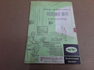 Vintage Heathkit Catalogue / Catalog 1959. Alpha Aracon Radio Company.