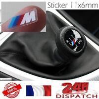 Pegatina M 11x6mm BLANCO Palanca velocità BMW