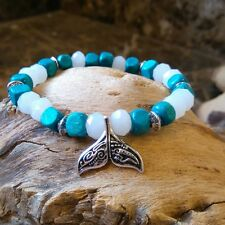 Womens Whale Tail Bracelet Surfer Tribal Wood Wristband Friendship bracelet