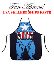 Captain America Marvel DC Comic Super Hero Cook Kitchen Cooking Dinner Apron BBQ