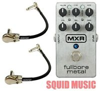 MXR M116 Fullbore Metal Distortion Guitar Effects Pedal M-116 ( 2 MXR CABLES )