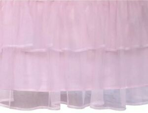 """Tadpoles Tulle Double Ruffle Baby Standard Crib / Youth Bed Skirt ~ 18"""" Drop NEW"""
