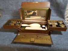 Vintage Men's Wooden Box Shaving/Travel Set