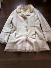 Next Ladies Fake Fur Ivory Winter Coat Regular UK Size 16