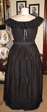 Civil War Victorian Underhoop Jett Black Mourning Modesty Petticoat/Skirt~Reg