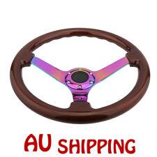 New Neochrome Spoke 350mm Wooden Steering Wheel wood Universal  Deep Dish Corn