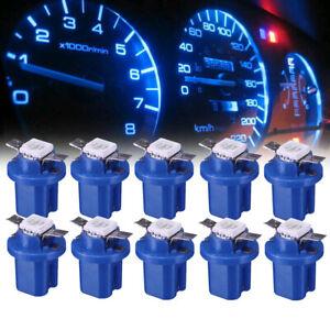 10* Blue T5 B8.5D Car Dashboard Instrument Interior LED Lamp Bulbs Universal