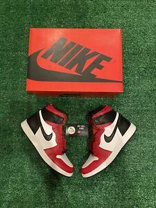 DS Air Jordan 1 Retro High OG - Satin Red/Snakeskin Size 9W/7.5M