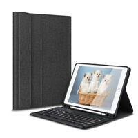 US For iPad 6/5th Gen 2018/2017 9.7 Wireless Bluetooth Keyboard & Leather Case