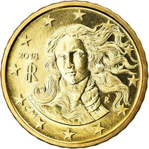 [#795817] Italy, 10 Euro Cent, 2018, MS, Brass, KM:New