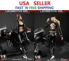 """1/6 Motorcycle Leather Jacket Pants Hat Set For 12"""" PHICEN Hot Toys Figure"""
