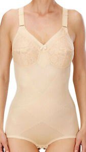 Naturana 3033,Firm Support,Soft Lace Cup Corselette,Beige or White(Shop Soiled)