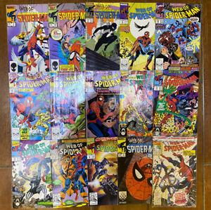 Marvel Comics Job Lot Web of Spider-Man Job Lot 15 Issues VFN / NM