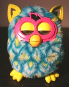 Furby Boom Interactive Pet Toy Blue Green Yellow 2012 Hasbro