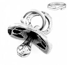 STERLING SILVER BABY PACIFIER CHARM WITH ONE SPLIT RING