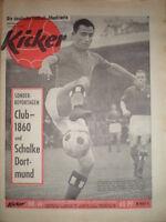 KICKER 49- 3.12. 1962 * Rolf Fritzsche Nürnberg-1860 1:0 Schalke 04-Dortmund 1:1