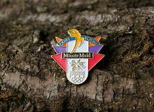 """Figure Skating Minute Maid Nagano 1998"" Olympic Rings Gold Tone Metal Lapel Pin"