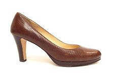 COLE HAAN Size 8 Brown Lizard Print Almond Toe Pumps Heels Shoe