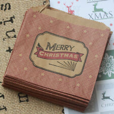 East of India Little Strung Kraft Bags 'Merry Christmas' Craft / Xmas x 40