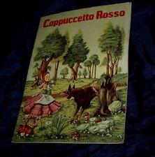 RUDY MURATORI CAPPUCCETTO ROSSO Editrice PICCOLI Milano libro ILLUSTRATO TAVOLE