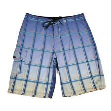 Hurley Phantom Mens 32 (?) Board Shorts Plaid Swimwear Boardshorts Stretch