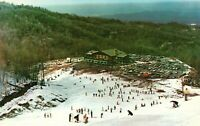 Aerial View of Skiers on the Slope of Mount Harrison,Ski Lodge View Postcard A31